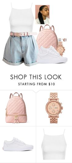 """""""J A C K I E ."""" by basnightshine1015 ❤ liked on Polyvore featuring MICHAEL Michael Kors, FOSSIL, Vans, Topshop and Anne Klein"""