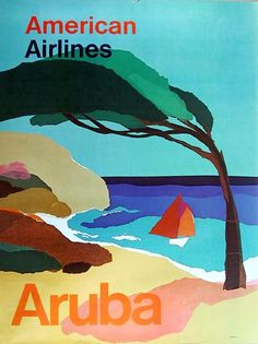 Aruba Travel Poster