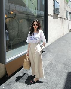 New fashion asian street chic Ideas Ootd Fashion, Asian Fashion, Skirt Fashion, Daily Fashion, Trendy Fashion, Fashion Outfits, Korean Street Fashion Urban Chic, Minimal Chic, Minimal Fashion