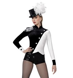 """Ringmaster""Long Sleeve Shorty Unitard 