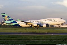 Saudi Arabian Airlines (now Saudia) Boeing 747-412 (leased to deal with the influx of passengers during the Haji season from Wamos Air, Spain)