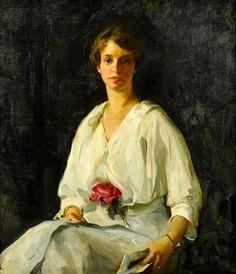 Leila Portrait of a Woman 1914 by Alice Kent Stoddard (1883-1976) - Drexel University