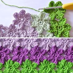 Crochet Flower Stitch - Diagram + step by step instructions