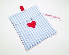 Waschlappen - Babywaschlappen...das Schnutentuch...Herzchen... - ein Designerstück von tuedelband-shop bei DaWanda