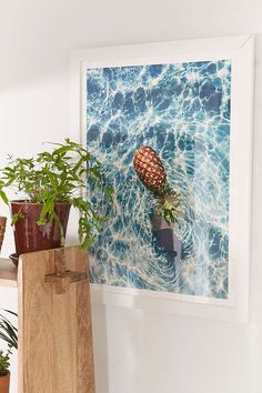 floating pineapple art print from urban outfitters....  a m a z i n g