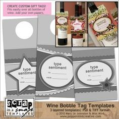 Wine Bottle Tags Templates from peppermintcreative.com