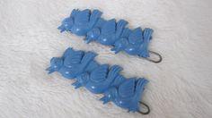 Three blue Birds vintage hair barrette UNUSUAL by rosebudcottage