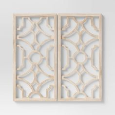 Set Of 2 Wood Lattice Wall Hanging Brown - Threshold™ : Target Unique Wall Decor, Wall Art Decor, Room Decor, Modern Decor, Dark Green Rooms, Lattice Wall, Framed Leaves, Home Decor Online, Wood Letters