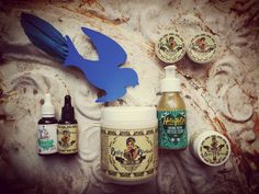 Betty Bluebird, handcrafted and small batch tattoo and piercing aftercare. Piercing Aftercare, Body Products, Blue Bird, Body Care, Vodka Bottle, Tattoo, Handmade, Hand Made, Tattoos