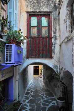 Naxos, Greece (notice the air conditioning!)