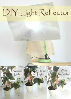 DIY LIGHT REFLECTOR - Need a reflector to get better lighting for your photos? This basic DIY light reflector is super easy to make and it costs a fraction of a real one!