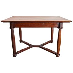 19th Century Oak Hall or Dining Table | From a unique collection of antique and modern dining room tables at https://www.1stdibs.com/furniture/tables/dining-room-tables/