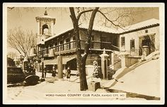 Vintage look at the Balcony Building. Country Club Plaza, Christmas 1941, via Flickr.