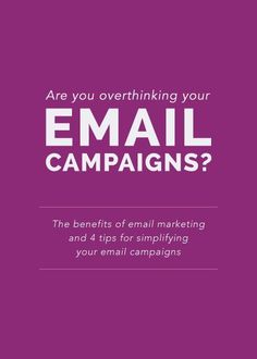 Email marketing. The sound or thought of that topic may not sound as appealing or exciting...