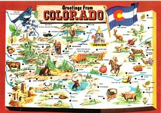 colorado postcard   Colorado State Greetings From Map Postcard   Flickr - Photo Sharing!