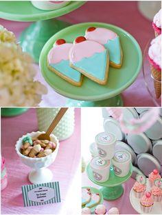 Bird's Party Blog: A Deliciously Darling Ice Cream Parlor. Ice cream gummies