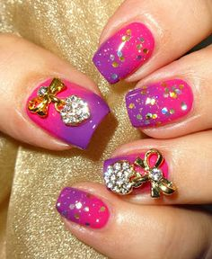 Wendy's Delights: 3D Heart & Rhinestone Nail Decoration from Born Pretty Store FREE SHIPPING & 10% DISCOUNT CODE USE HXBQ10 @bornprettystore @bornprettystoredaisy #3D #3Dnaildecorations #rhinestones #nailart