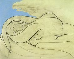 Lying Female Nude I Pablo Picasso