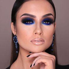 Gorgeous Makeup: Tips and Tricks With Eye Makeup and Eyeshadow – Makeup Design Ideas Glam Makeup, Blue Eye Makeup, Eye Makeup Tips, Makeup Set, Smokey Eye Makeup, Love Makeup, Simple Makeup, Eyeshadow Makeup, Hair Makeup