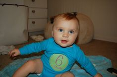 Baby B is 6 months old!  Check out this adorable little boy on the blog!