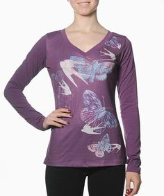 Another great find on #zulily! Purple Funk Top #zulilyfinds