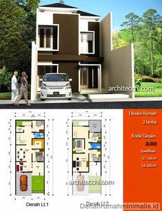Desain Rumah Minimalis 3 Lantai Type 190 Sudut Hook Lebar 10