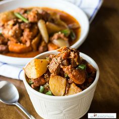 While Korean Spicy Chicken and Potatoes is usually cooked over a stovetop for hours, try this slow-cooker method!