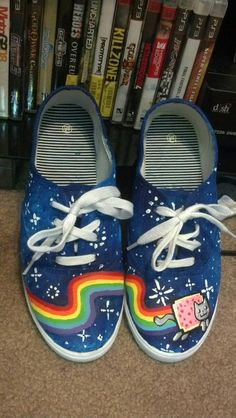 Nyan cat shoes!!!!!!!!!