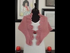 Capa en Crochet Tunecino y Dos Agujas Scialle con due tech niche maglia e uncinetto tunisino Tunisian Crochet Patterns, Crochet Stitches, Knitting Patterns, Crochet Baby, Knit Crochet, Crochet Capas, Garter Stitch, Knitted Shawls, Girls Sweaters