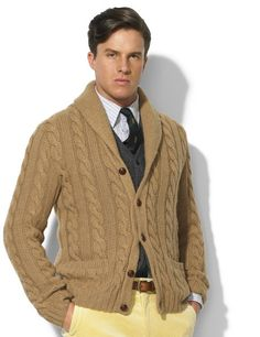Men\u0027s Red Scenic Shawl Collar Sweater | Shawl collar sweater, Polo ralph  lauren and Polos