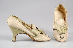 Shoes 1770, European, Made of silk