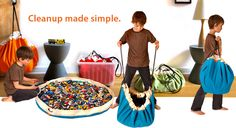 Clean up in a flash with Swoop – the ultimate toy bag and playmat in one. Ideal for small toys like Lego®, Playmobil®, trains, cars, blocks, dolls, Lincoln Logs®, Lego® Duplo® bricks, stuffed animals and more!