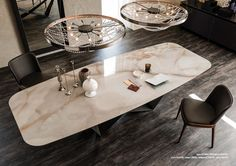 Buy the Skorpio Keramik Dining Table by Cattelan Italia from our designer Tables collection at Chaplins - Showcasing the very best in modern design. Marble Dinning Table, Dining Table Design, Marble Tables, Home Design, Küchen Design, Design Ideas, Room Interior, Interior Design Living Room, Mesa Oval