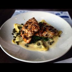 Nutty Atlantic salmon @ legal seafoods