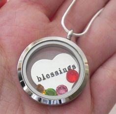 Blessings Necklace, Personalized Mothers Locket, Childrens Birthstone Necklaces, Nanas Blessings Necklace, Gifts for Grandmothers Mothers