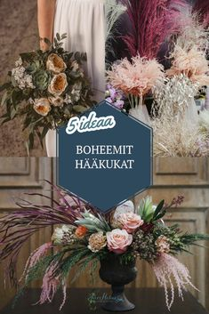 I'm a wedding photographer, not a florist. But I love every kind of plants and flowers. So I want to share some ideas for your inspiration. Bohemian Wedding Flowers, Boho Wedding, Some Ideas, Queen Victoria, Lush, Helmet, Wedding Inspiration, Table Decorations, Plants