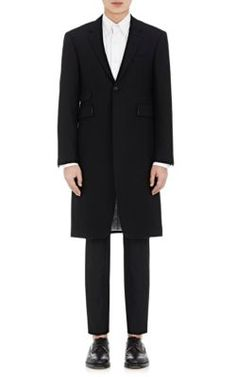THOM BROWNE Twill Topcoat. #thombrowne #cloth #topcoat