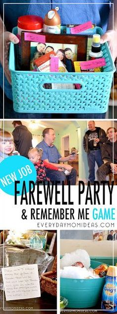 Going Away Party for co-worker - new job survival kit, remember me party game, goodbye playlist, and food. Get great ideas to plan farewell party for co-worker. Farewell Gift For Coworker, Coworker Birthday Gifts, Farewell Gifts, Goodbye Coworker, Farewell Party Games, Farewell Parties, Farewell Party Decorations, New Job Party, Work Party