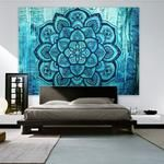 Indian Hippie Tapestry Mandala Wall Hanging Blue Lotus Bohemian Decor Psychedelic Intricate Floral Flower Wall Decor Beach Throw Bedspread Tapestries for Bedroom x 59 inch, Turquoise Flower) Bohemian Wall Tapestry, Indian Tapestry, Mandala Tapestry, Tapestry Wall Hanging, Bohemian Decor, Mandala Throw, Hanging Art, Bohemian Bedspread, Blue Tapestry