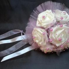 Világos lila-fehér örök-csokor 135518.