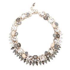 crystal and stone statement collar