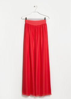#falda #larga #abertura #pierna #fresa @MANGO 29,99€