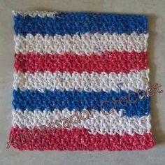 10 favorite red, white and blue #crochet patterns: dishcloth pattern free from Ambassador Crochet