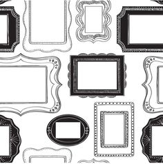 Brewster Home Fashions Photo Opp Frames Peel and Stick Wallpaper