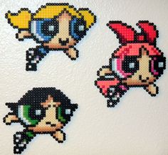 Powerpuff Girls perler beads -Greg's Life #44