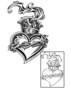 Sacred Heart Tattoos CXF-00080 Created by Joey Chavez