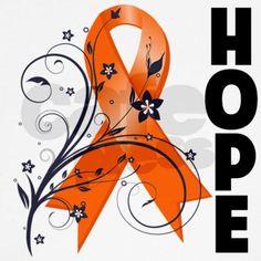 ms ribbon color hope ribbon multiple sclerosis long sleeve t shirt by hopeanddreams