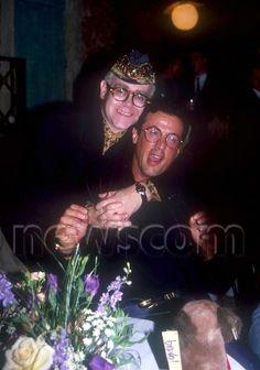 Elton John and Sylvester Stallone, 1989