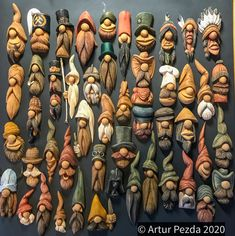 Simple Wood Carving, Wood Carving Faces, Dremel Wood Carving, Wood Carving Designs, Wood Carving Patterns, Wood Carving Art, Wood Carving For Beginners, Wood Bark, Clay Wall Art