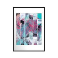 Abstract art print Stripes 16x20